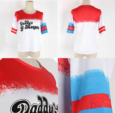 Cosplay Suicide Squad Harley Quinn T-shirt Daddy'S Lil Monster Halloween Tee Top