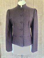 Vintage Sartorial Wool Blazer Jacket 9 Plum Gray Dark Mauve EUC M Tailored