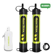 2x Wasserfilter Filterpen Trinkwasser Outdoor Reinger Survival Wasseraufbereiter