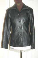 DPL Womens BLACK Lambskin REAL LEATHER JACKET S/M uk10us8eu38 Chest c36ins c91cm