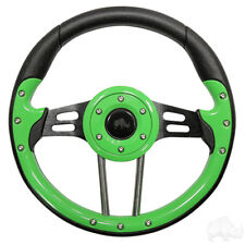 Aviator 4 Golf Cart Steering Wheel Green(Adapter Required)