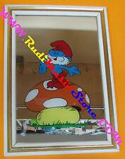 Specchio mirror vintage anni 80 PUFFI GRANDE PUFFO 23x33 cm no lp cd dvd vhs mc