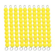 Montessori Beads Chain 1-100 Number Counting Preschool Math Learning Toys Gifts