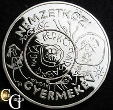 1979 Hungary Proof International Year of Child Silver 200 Forint UNICEF Coin