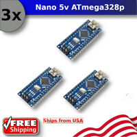3pcs Arduino Nano USB CH340G V3.0 16M 5V ATmega328P Micro-Controller Board Mini