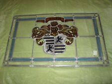 Vtg Code of Arms Custom House Sigil Stained Glass Sign Bar Beer Pub Hungary