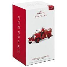 2018 Hallmark 1932 BUICK FIRE ENGINE Brigade truck with light ORNAMENT #16