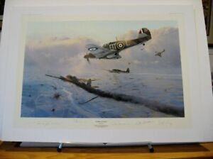 Hawker Hurricane Force Robert Taylor RAF Aces Signed Aviation Art Sold Out