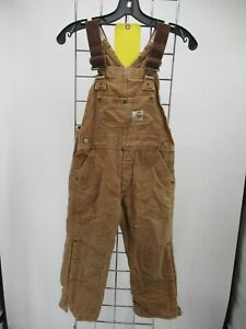 L6655 VTG Boy's Carhartt Quilt-Lined Insulated Duck Overalls Size S (8)