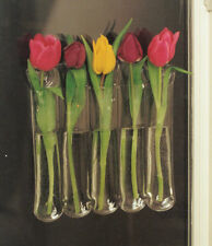 Window Vase Holds 5 Flower Stems flexible suctions to windows + mirrors 65130