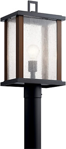 """Marimount 18.25"""" 1 Light Outdoor Post Light with Clear Glass in Black"""