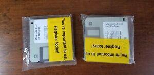 "Microsoft Windows Excel SEALED  3 1/2"" 3.5"" Floppy Disk  1993  7xDisks"