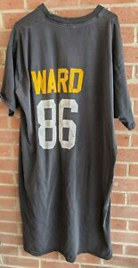 Vintage Hines Ward 86 Nightgown Night Shirt Pittsburgh Steelers Football One Sz