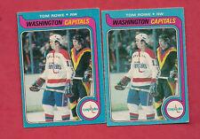 2 X 1979-80 OPC # 113 CAPITALS TOM ROWE  ROOKIE CARD