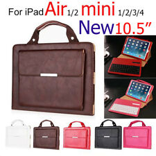 PU Leather Bag Case + Bluetooth Keyboard Cover For iPad With Stand Wireless Pad