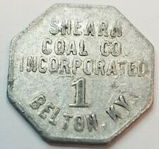 Shearn Coal Co Inc Belton KY Kentucky Octagonal 1 Cent Trade Token Muhlenberg Co