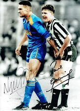 Paul Alberto & Vinnie Jones DUAL Firmato Autografo iconica foto 16x12 AFTAL COA