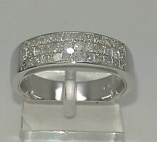 New 9ct White Gold 1ct Princess Cut Diamond Eternity Ring.