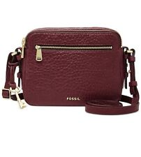 NWT Fossil Piper Toaster crossbody Leather Color: Wine Handbag~MSRP$158