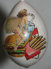 gourd Easter egg or Christmas ornament with fast food fairy