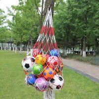 7-10Balls Carry Ball Mesh Net Bag-Holds Sport Basketball Soccer Storage Tools US