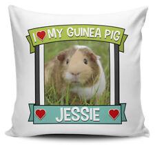 Personalised I love My Guinea Pig Cute Cushion Cover