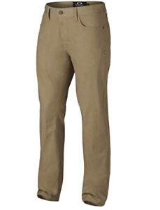 New Oakley 50's Pant Mens Khaki Stretch Golf Pants Size 28 x 32 Sports Beige