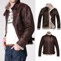 Men's Slim fit Biker Motorcycle jacket Casual Fashion PU-Leather Jacket