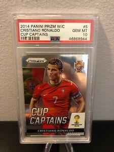 2014 Prizm World Cup Cristiano Ronaldo CUP CAPTAINS PSA 10 Gem Mint