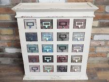 20 COLORATI cassetti armadio shabby chic in legno compartimenti sul petto Unità