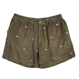 Chubbies Brown Corduroy American Flag Shorts Size XL See Measurements