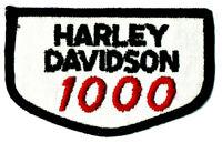 Official Licensed Harley Davidson Embroidered 1000 CC Patch Pre-owned Unused