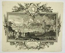 NAMUR Gravure SEBASTIEN LECLERC Histoire Charles V Lorraine MILITARIA 1703