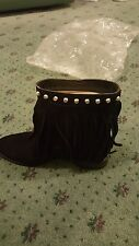 BNWT MICHAEL KORS BOOTS BILLY STUDDED FRINGE BOOTIES SIZE 36