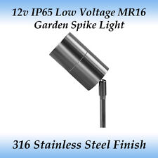 LED Compatible 12v Ip65 Outdoor Adjustable Spike Light in 316 Stainless Steel