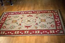 Vintage Turkish Kilim Oriental Rug - Hand Made 100% Wool needs cleaning 5' x 6'