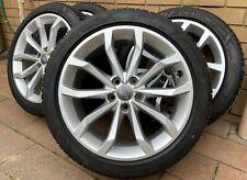 "Genuine AUDI 18"" A4 A6 B7 B8 B9 Wheels Rims 80% PIRELLI 245 40 18 Tyres"