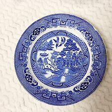 Petrus Regout Maastrict Dutch Blue Willow Salad Plate Antique Holland