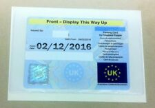 HOLDS A DISABILITY BADGE PARKING PERMIT HOLDER (L) SIZE 180 MM X 110 MM