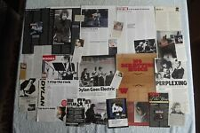 BOB DYLAN - LARGE MAGAZINE CUTTINGS COLLECTION - ARTICLES, CLIPPINGS X80.