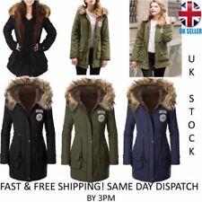 Parka Zip Polyester Coats & Jackets for Women