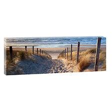 Weg zum Strand- Bild Strand Meer Keilrahmen Leinwand Poster XXL 150 cm*50 cm 544