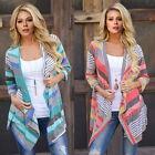 Women Long Sleeve Knitted Cardigan Loose Sweater Outwear Jacket Coat Sweater S