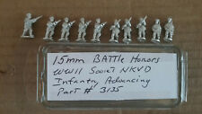 15mm Battle Honors  WWII Soviet NKVD Infantry advancing