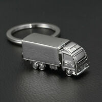 New Metal 3D Lorry Truck Transport Driver Keyring Key Chain Free Gift Bag