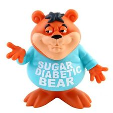 "Sugar Diabetic Bear 8"" Vinyl Figure by Ron English Post Golden Crisp Cereal NEW"
