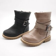 New Baby Toddler Girl/'s Fashion Buckle Ankle Strap Mid-Calf Boots Shoes