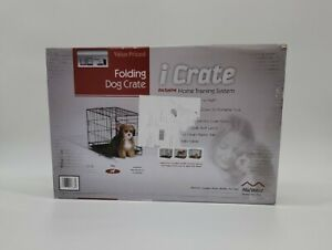 Small Dog Pet Cat Crate Cage Kennel Metal Folding Door Tray Travel Portable