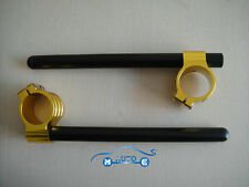 CNC 37MM demi guidon taillé masse réglable universel or MOTO Clip On Handle GP