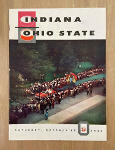 1957 NCAA INDIANA HOOSIERS @ OHIO STATE BUCKEYES FOOTBALL PROGRAM - WOODY HAYES